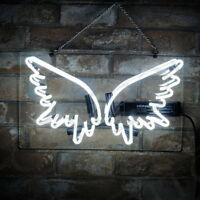 "14""x8""Wing Shape Neon Sign Light Party Home Room Wall Decor Handcraft Artwork"