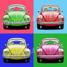 VW Beetle Andy Warhol Style Glossy 1 Piece Poster Art Print!