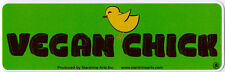 Vegan Chick - Magnetic Small Bumper Sticker / Decal Magnet