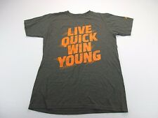 *Adidas* Size M Men'S The Go-To Tee 'Live Quick Win Young' Athletic T-Shirt