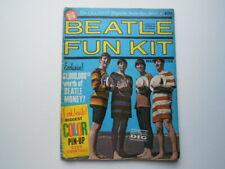 BEATLES ' FUN KIT ' LARGE ORIGINAL MAGAZINE 1964 POSTER POSTCARDS ETC