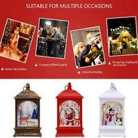 Christmas LED Light Up Lantern Xmas Santa Claus Table Lamp Adornment Decor
