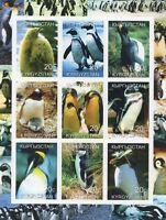 PENGUINS BIRDS KYRGYZSTAN 2000 IMPERFORATED MNH STAMP SHEETLET