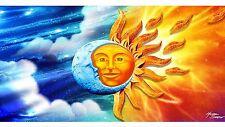 """Sun And Moon Beach Towel 30"""" X 60"""" Towel"""