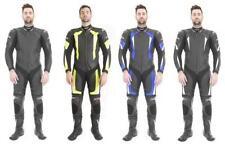 Tute in pelle e altri tessuti nero da corsa per motociclista