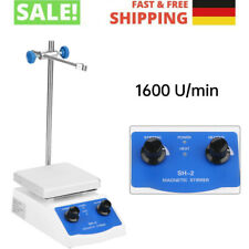 Magnetrührer Thermostat Heizplatte 1600 U/min Magnetische Labormagnetmischer