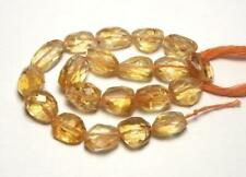 20 pcs CITRINE 10-14mm Faceted Nugget Beads NATURAL