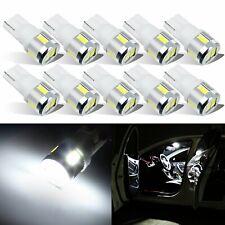 JDM ASTAR 10x T10 White 6 SMD LED License Lights Bulbs 194 168 175 W5W 2825 192