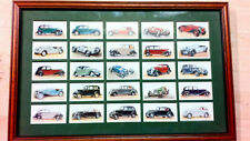 Players Cigarette 25 Cards CARS framed
