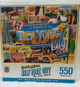 "Master Pieces Puzzles- ""Greeting from New York City""  550 Pieces Pre-Owned"