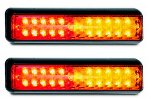 TRAILER RED AMBER STOP/TAIL/INDICATOR X 2 LAMPS 200 S MULTI VOLT LED AUTOLAMPS
