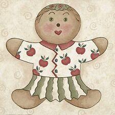 Country Folk Art Gingerbread Doll - 60 feet ONLY $30 - Wallpaper Border A252
