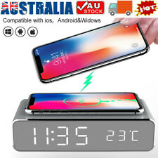 Wireless Charging Alarm Clock Led Digital Alarm Clock with QI Wireless Charger