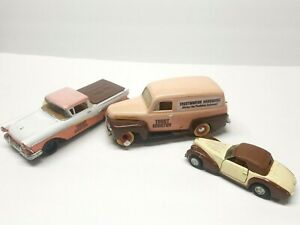True Value 1937 Chevrolet Die-cast Metal Bank lot of 3 Model Car No Box
