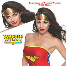 Wonder Woman Tiara Superhero Ladies Costume Crown Gold Adult Accessory