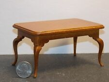 Dollhouse Miniature Dining Room Table Walnut 1:12 inch scale G58 Dollys Gallery