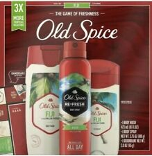 Old Spice Fiji with Palm Tree Mens 3 Pack Gift Set Body Wash, Spray, Deodorant
