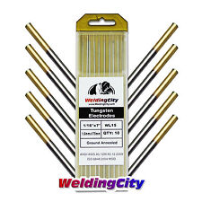 "10-pk TIG Welding Tungsten Electrode 1.5% Lanthanated (Gold) 1/16""x7"" US Seller"