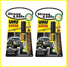 2 x UHU ALL PURPOSE ADHESIVE SUPER Strong & Safe in tube 7g - 2 Packs of 1 Tube