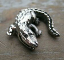 Miniature Sterling Silver Study Of A Crocodile / Alligator