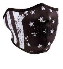 Black White Patriotic Usa Flag Neoprene Half Face Mask Biker Ski Free Shipping