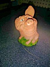 Bobble-head pig figurine