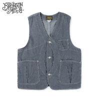 Bronson Hickory Game Pocket Vest Vintage Men's Striped Hunting Waistcoat Jacket