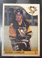 1985-86 O-Pee-Chee Mario Lemieux Rookie #9 Penguins - Great Card!