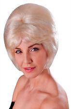 Ladies Blonde High Beehive Wig 1960s Mod Winehouse Fancy Dress Accessory