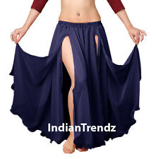 Chiffon 2 Layer Front Slit Skirts Full Circle Belly Dance Tribal Flamenco JUPE