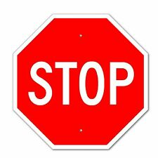 "Stop Sign Aluminum Metal Road Highway Traffic 24""x24""Street Signs"