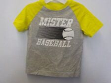 BOYS SIZE 18-24 MONTHS CRAZY 8 GRAY MISTER BASEBALL TSHIRT NEW NWT #7031