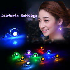 UK LED Earrings Light Light Up Bling Ear Studs Dance Party Accessories Men Women