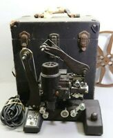 RARE 1930 BELL & HOWELL 16MM FILM FILMO 129c SILENT PROJECTOR w/ CASE- WORKING