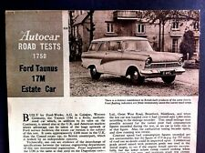 FORD TAUNUS 17M ESTATE CAR - 1959 - Road Test removed from The Autocar
