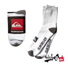 Mens/Boys Quiksilver White High Crew Socks Sports Training Running