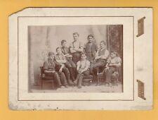 8 Boys in Portrait Cabinet Photo Card Dobereiner & Ward Guelph Ont.