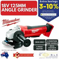 Milwaukee Cordless Cut Off Metal Angle Grinder 18V 125mm Grinding Tool Skin Only