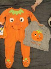 Bebé Chicos F&F Halloween Paquete Calabaza Pelele Top & Calcetines 9-12 12-18 meses