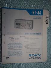 Sony rt-44 service manual original repair book stereo receiver tapedeck player