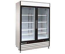 Maxx Cold MXM2-48R 54in Commercial Double 2 Glass Door Merchandiser Cooler 48cf