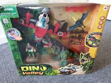 Dino Valley Discontinued Large Dinosaur / Figure / Plane Set