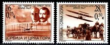 SELLOS AVIACION REP. SERBIA Y MONTENEGRO HERMANOS WRIGHT Nº MICHEL 3169/70 2v.