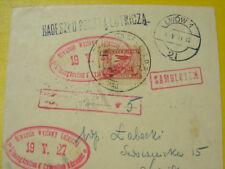 Envelope, postal flight of the 4th aviation exhibition LOPP Lviv 19. May 1927
