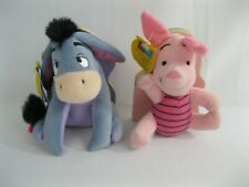 Eeyore & Piglet Book Plush Lot - Disney - Winnie The Pooh - 1997 - Mouse Works