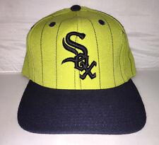 Vtg Chicago White Sox Pinstripe Snapback hat cap 90s MLB Baseball bad boy diddy
