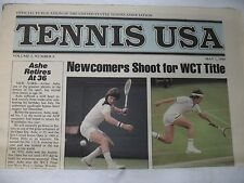 Tennis USA 1980 Volume 2 No. 8 Vintage USTA Publication Arthur Ashe Retires