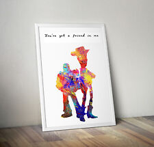 gift wall art picture Toy Story print inspiring quote poster disney