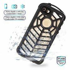 iPhone SE Case Waterproof Shockproof Clip Cover Builtin Screen Protector Black
