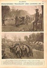 Prisonniers Feldgrau Canons de 77/Sammies Tranchée Boyaux WWI 1917 ILLUSTRATION